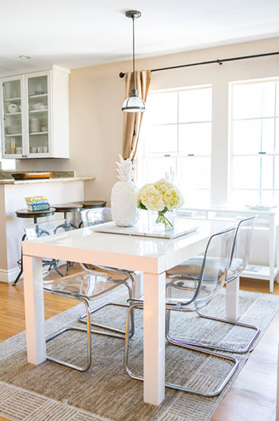 Louise Roe dining area via {what you fancy}