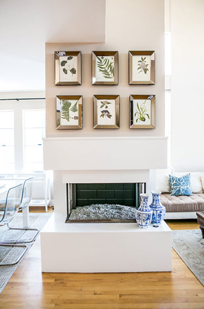 Louise Roe fireplace via {what you fancy}