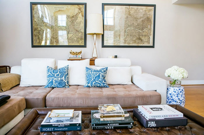 Louise Roe living room via {what you fancy}