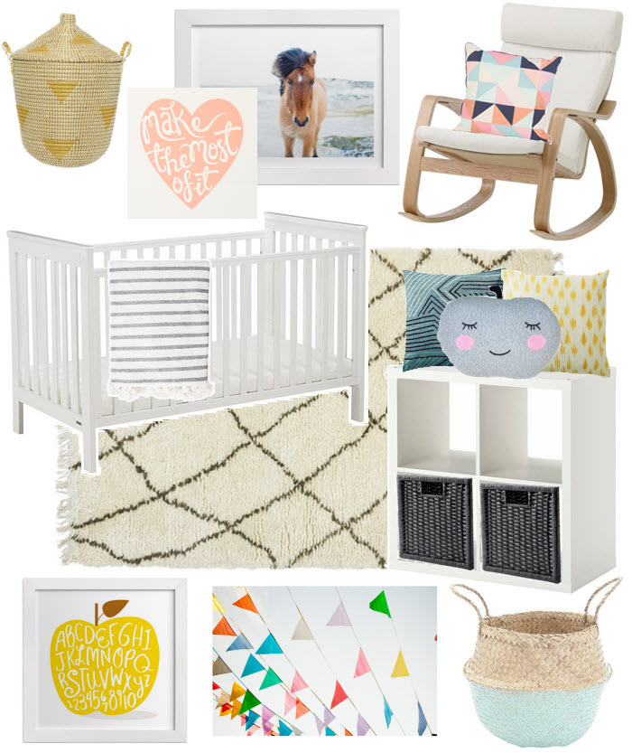 Gender neutral nursery e-design via {what you fancy}
