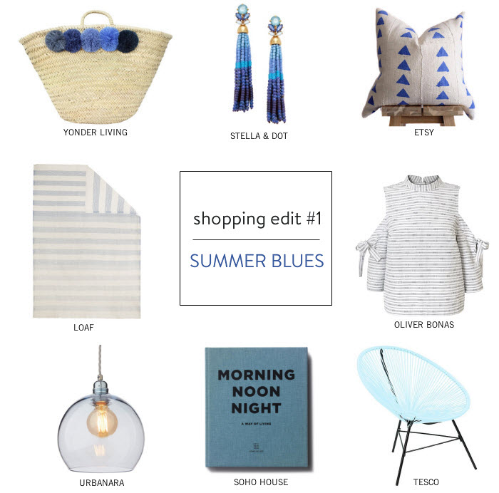 Shopping Edit - Summer Blues via {what you fancy} blog